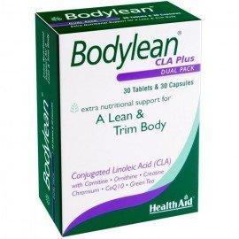 Health Aid Bodylean CLA Plus Συμπλήρωμα Διατροφής για Αδυνάτισμα & Σύσφιγξη, 30tabs & 30caps