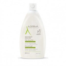 A-Derma Shower Gel Hydra-Protective Αφρόλουτρο για Ευαίσθητες Επιδερμίδες, 500ml
