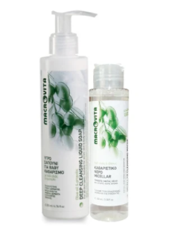 Macrovita Deep Cleansing Liquid Soap 200ml & Δώρο Micellar Cleansing Water 100ml
