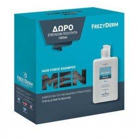 Frezyderm Promo Hair Force Shampoo Men, Σαμπουάν για Άνδρες, για την αντιμετώπιση της τριχόπτωσης, για Πυκνά & Δυνατά μαλλιά, 200ml & Δώρο Eπιπλέον 100ml