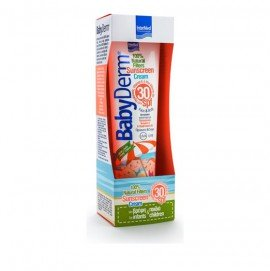 Intermed BabyDerm Sunscreen Cream 100% Natural Filters SPF30 Face & Body Αντηλιακό Γαλάκτωμα για Πρόσωπο & Σώμα 300ml