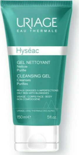Uriage Hyseac Gel Nettoyant, Απαλό Καθαριστικό Τζελ για Λιπαρό Δέρμα με Ακμή 150ml