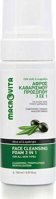 Macrovita Face Cleansing Foam 3 in 1, Αφρός καθαρισμού προσώπου, 150ml