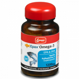 Lanes Epax® Omega-3, για την Υγεία της Καρδιάς, του Εγκεφάλου και της Όρασης, 30caps