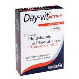 Health Aid Day-vit Active, Multivitamin & Mineral & Co Q10-Ginseng, Πολυβιταμίνες, Σωματική & Πνευματική Τόνωση 30tabs