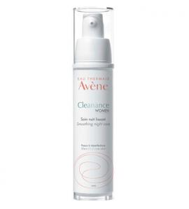 Avene Cleanance Women Smoothing Night Care Κρέμα Νύχτας για Λείανση της Υφής του Δέρματος, Μείωση των Ατελειών, Κηλίδων & Σημαδιών Ακμής, 30ml