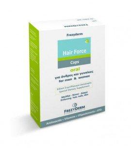 Frezyderm Hair Force Caps Συμπλήρωμα Διατροφής για Όμορφα Μαλλιά, Νύχια & Δέρμα, 60 caps