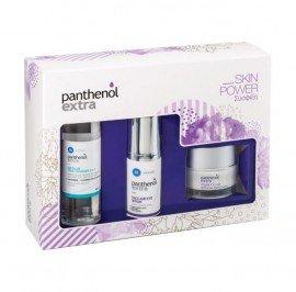 Panthenol Extra Skin Power Promo Face & Eye Serum Αντιρυτιδικός Ορός Προσώπου & Ματιών, 30ml & Night Cream Αντιγηραντική Κρέμα Νύχτας, 50ml & Micellar True Cleanser 3 in 1 Καθαριστική Λοσιόν Προσώπου & Ματιών, 100ml