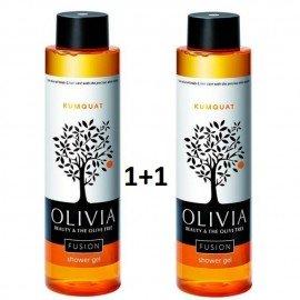 Olivia Gift Set Shower Gel Kumquat, Αφρόλουτρο Κουμ Κουατ με Εκχυλίσματα Ελιάς για την ξηρή & ταλαιπωρημένη επιδερμίδα, 2x300ml 1+1 ΔΩΡΟ