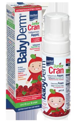 Intermed BabyDerm Junior Cran Foam, Αφρός Καθαρισμού της Γεννητικής Περιοχής Αγοριών & Κοριτσιών, 150 ml