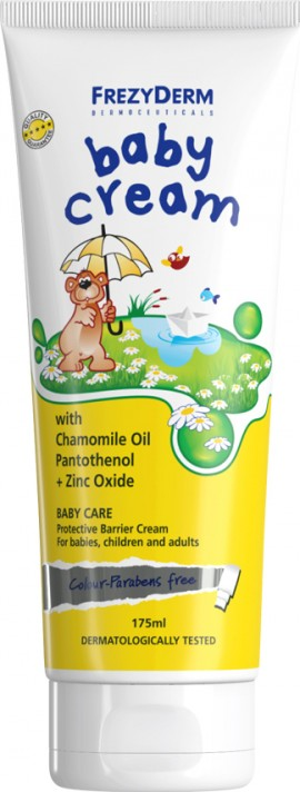 Frezyderm Baby Cream, Προστατευτική & Αδιάβροχη Κρέμα για Αλλαγή Πάνας, 175ml
