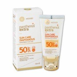 Panthenol Extra Sun Care Spf50 Diaphanous Face Gel 50ml