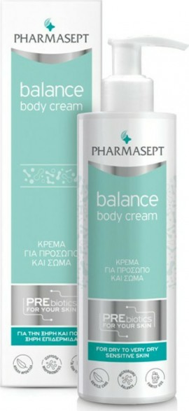Pharmasept Balance Body Cream Ενυδατική Κρέμα Kαθημερινής Xρήσης για Ξηρές & Ευαίσθητες Επιδερμίδες, 250ml