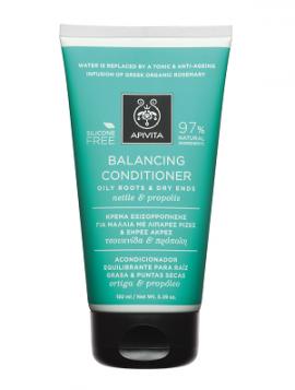 Apivita Hair Conditioner Balancing, Κρέμα Μαλλιών Εξισορρόπησης για Λιπαρές Ρίζες & Ξηρές Άκρες με Τσουκνίδα & Πρόπολη, 150ml