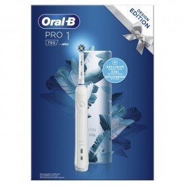 Oral-B Επαναφορτιζόμενη Ηλεκτρική Οδοντόβουρτσα & Θήκη Ταξιδίου, Pro 1 750 Blue Design Edition, 1 τμχ