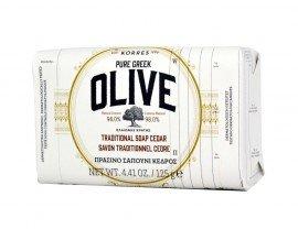KORRES Pure Greek Olive Πράσινο Σαπούνι Κέδρος 125gr