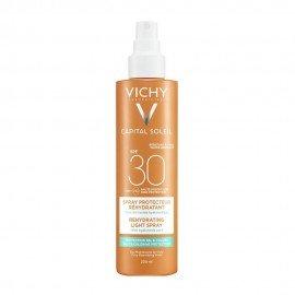 Vichy Capital Soleil Beach Protect Anti-Dehydration Spray SPF30, Αντηλιακό Σπρέι για Προστασία από το Αλάτι και το Χλώριο, 200ml