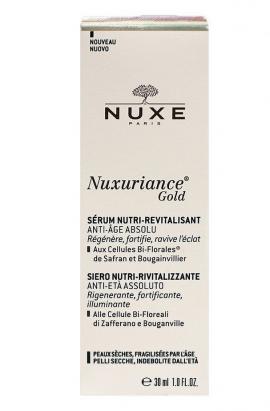 Nuxe Nuxuriance Gold Ultimate Anti-Aging Nutri-Revitalizing Serum, Ορός Θρέψης & Αναζωογόνησης, 30ml