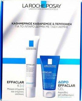 La Roche Posay Πακέτο Προσφοράς με Effaclar K(+) Ενυδατική Κρέμα Προσώπου για τη Λιπαρή και Μικτή Επιδερμίδα, 40ml & Effaclar Gel Καθαρισμού για Λιπαρή / Ευαίσθητη Επιδερμίδα, 50ml