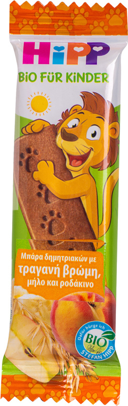 Hipp Παιδική Μπάρα Δημητριακών με Τραγανή Βρώμη-Μήλο-Ροδάκινο, 20gr
