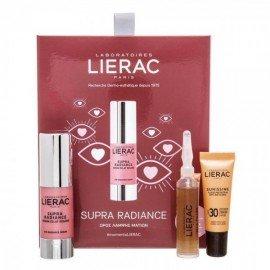Lierac Promo Supra Radiance Serum Eclat Regard 15ml Ορός Λάμψης Ματιών + Cica Filler Αντιρυτιδικός Ορός 10ml + Sunissime Κρέμα Αντιηλιακής Προστασίας Προσώπου Spf30 10ml