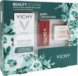 Vichy Πακέτο Προσφοράς Beauty Routine με Slow Age Fluid SPF25 Κρέμα για τις Πρώτες Ρυτίδες για Κανονική/Μικτή Επιδερμίδα, 50ml & Δώρο Double Glow Peel Mask Αναζωογονητική Μάσκα, 15ml & Liftactiv Glyco-C Night Peel Αμπούλα Νύχτας, 2ml