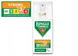 Omega Pharma Jungle Formula Strong Original Spray με IRF3, Εντομοαπωθητικό Σπρέι για Ισχυρή Προστασία για Ενήλικες & Παιδιά άνω των 12 ετών, 75ml