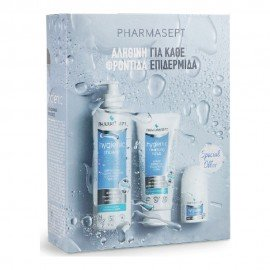 Pharmasept Promo Pack: Hygienic Shower Αφρόλουτρο 500ml & Hygienic Cleansing Scrub Απολεπιστική Κρέμα 200ml & Hygienic Mild Deo Roll-On Αποσμητικό 50ml
