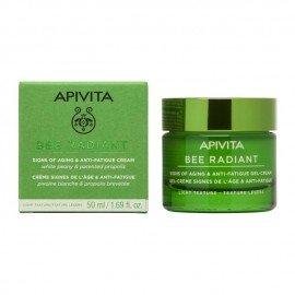 Apivita Bee Radiant Signs of Aging & Anti-Fatigue Gel-Cream Αντιγηραντική Κρέμα-Gel Ελαφριάς Υφής για Λαμπερή, Σφριγηλή & Ξεκούραστη Επιδερμίδα, 50ml