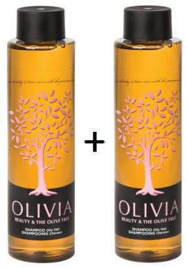 Olivia Gift Set Shampoo Σαμπουάν για λιπαρά μαλλιά 2x300ml 1+1 Δώρο