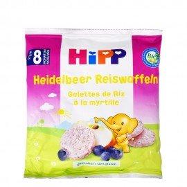 Hipp Παιδικά Βιολογικά Ρυζογκοφρετάκια Βατόμουρου Από τον 8ο Μήνα (15τμχ), 30gr