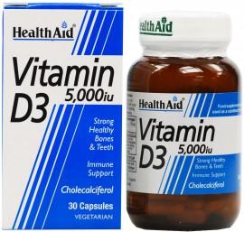 HEALTH AID Vitamin D3 5000iu 30vcaps