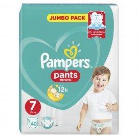 Pampers Pants Jumbo Pack Πάνες Βρακάκι No7 (17+ Kg), 40 Πάνες Βρακάκι