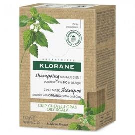 Klorane Shampoing Mask 2 in 1 Ortie Σαμπουάν-Μάσκα 2 σε 1 για Λιπαρά Μαλλιά με Τσουκνίδα, 8χ3gr