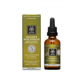 Apivita Λάδι Ενδυνάμωσης & Τόνωσης για τα Μαλλιά, Natures Hair Miracle Strengthening & Energizing Hair Oil, 50ml