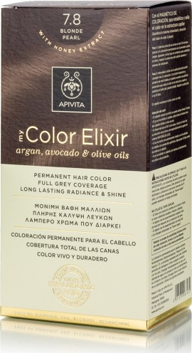 Apivita Βαφή Μαλλιών 7.8 My Color Elixir Κit Μόνιμη Ξανθό Περλέ