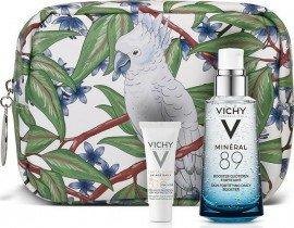 Vichy Promo Mineral 89 Hyaluronic Acid Face Moisturizer Ενυδατικό Booster Προσώπου για Καθημερινή Χρήση για Κάθε Τύπο Επιδερμίδας, 50ml & Δώρο Capital Soleil SPF50 UV-Age Daily Sun Cream Λεπτόρρευστο Αντιηλιακό Κατά της Φωτογήρανσης, 3ml & Νεσεσέρ, 1τεμ