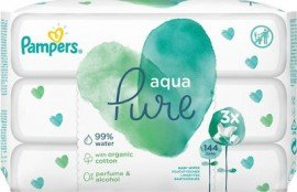 Pampers Aqua Pure Μωρομάντηλα, 144 Μωρομάντηλα (3X48τεμ)