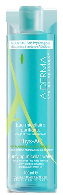 A-Derma Phys-AC Eau Micellaire Purifiante Εξυγιαντικό Νερό Καθαρισμού με Μικύλλια για λιπαρά/μικτά δέρματα, 400ml