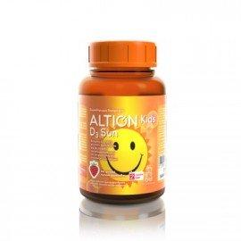 Altion Kids D3 Sun Παιδικό Συμπλήρωμα Διατροφής με Βιταμίνη D3 Φυσικής Προέλευσης για Τόνωση Ανοσοποιητικού, Σωστή Ανάπτυξη Οστών & Δοντιών, 60gummies