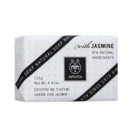 Apivita Natural Soap Jasmin Σαπούνι με Γιασεμί για χαλάρωση, Πρόσωπο & Σώμα 125gr