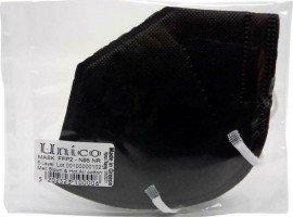 UNICO Pro Μαύρη Μάσκα Προστασίας FFP2, Πιστοποιημένες Ελληνικές Μάσκες CE 2198, 25τμχ