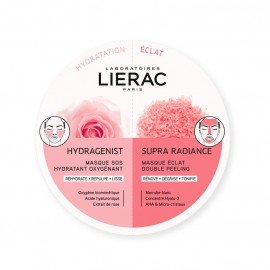 LIERAC Hydragenist SOS Moisturizing Oxygenating Mask για Ενυδάτωση, Οξυγόνωση & Επαναπύκνωση, 6ml & Supra Radiance Double Peeling Radiance Mask Μάσκα Απολέπισης για Λάμψη & Τόνωση, 6ml