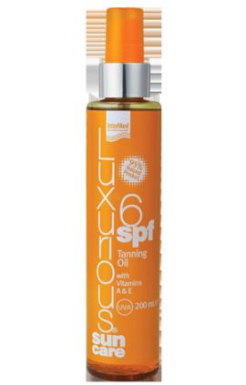 Intermed Luxurious Suncare Tanning SPF6 Oil, Ξηρό Αντηλιακό Λάδι για γρήγορο & έντονο Μαύρισμα, 200 ml