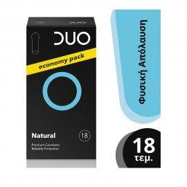 DUO Προφυλακτικά Premium Economy Pack Natural, 18τμχ