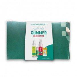 Pharmasept Summer Rescue Pack, Insect Lotion 100ml - SOS After Bite 15ml - Flogo Instant Calm Spray 100ml - Arnica Cream Gel 15ml